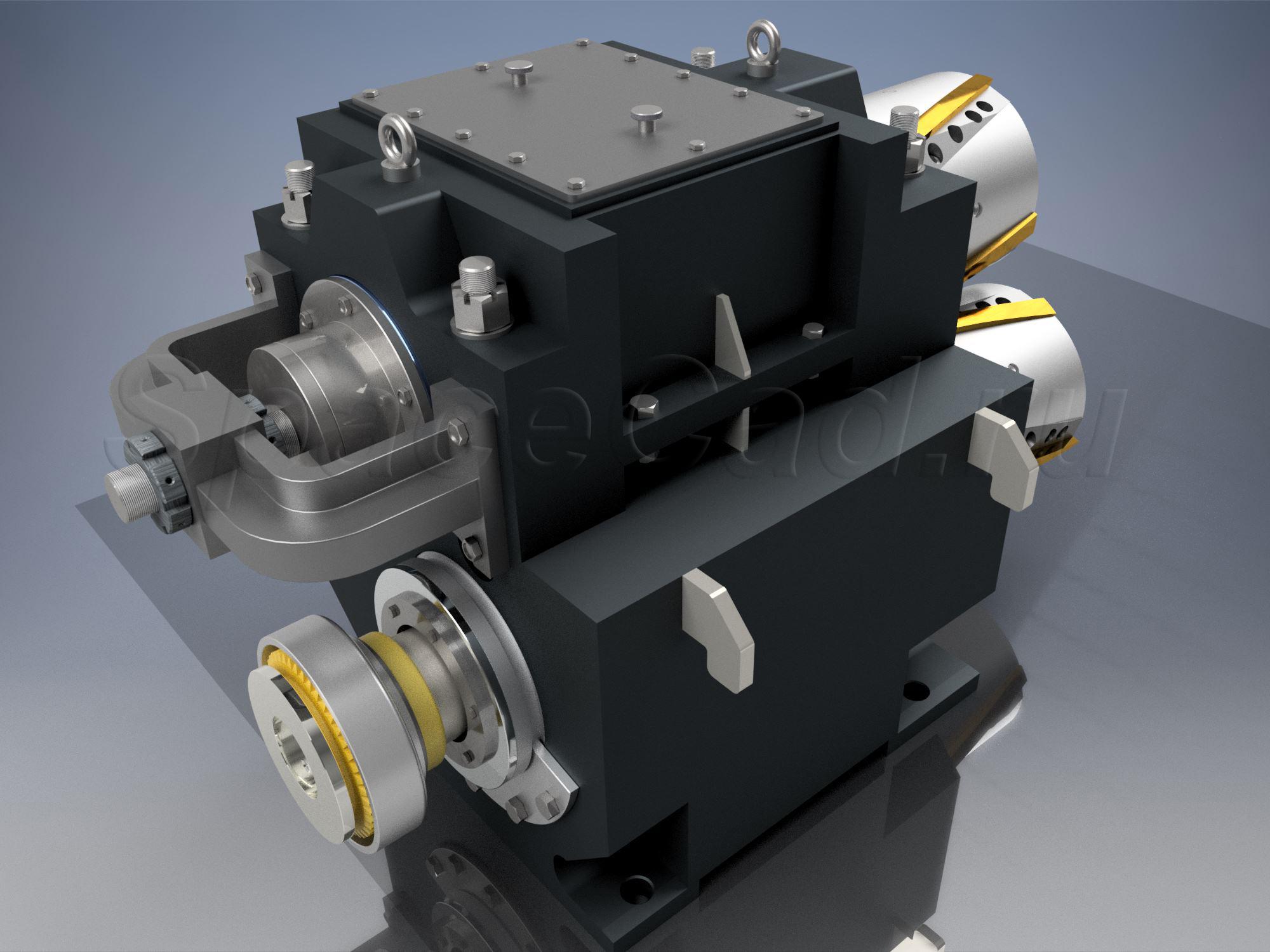 3D моделирование кромкокрошителя