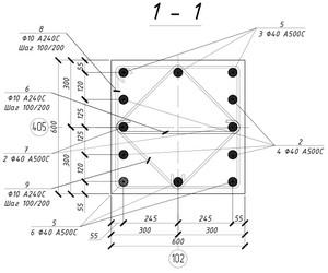 Армирование монолитной жб колонны
