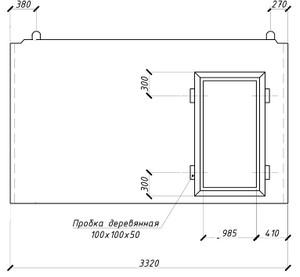 Внутренняя стеновая панель ВС16